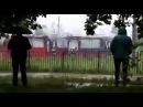 В Казани сгорел трамвай после удара молнии