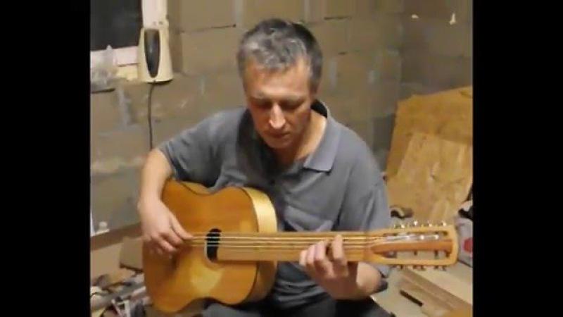 Мурка на семиструнной гитаре. Проба семиструнной Луначарки после переделки