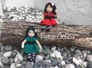 Como bordar ojos y poner pelo muñeca Sabrina amigurumi By Petus