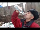 Russian Man Chugs Bottles Of Vodka