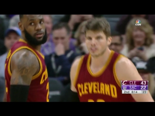 Kyle Korver Hits First Three as a Cavalier ¦ Cavaliers vs Kings ¦ Jan 13, 2017 ¦ 2016-17 NBA Season