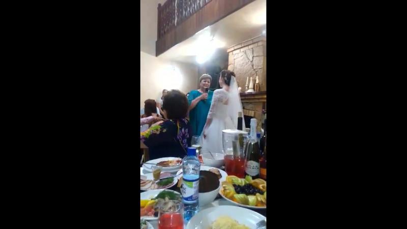 Мама Невесты поет для своей деченьки! Лучший подарок от мамочки для дочери! Ведущая на свадьбу Регина Магасумова!