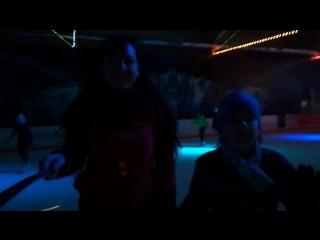 С сыном на ночном катание в Ледовом дворце