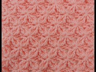 Crochet: Punto Lazos en Relieve 2