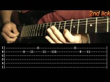 Smoke On The Water Guitar Solo Lesson - Deep Purple (with tabs)