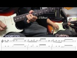 Deep Purple - Smoke on the water guitar solo Lesson with Tab