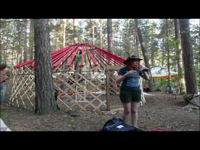 We tie up Yurt and cover