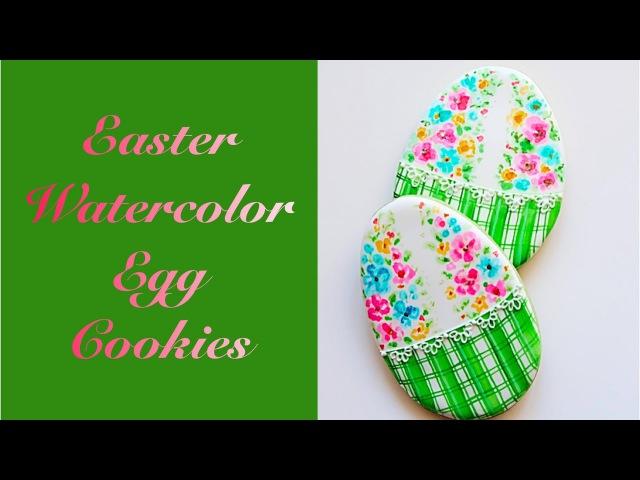 Easter Watercolor Egg Cookies🌷