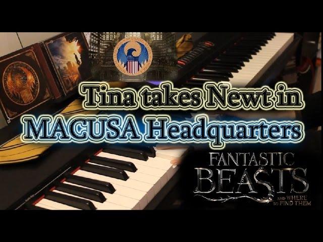 FANTASTIC BEASTS Tina takes Newt in MACUSA headquarters - Piano cover FREE sheets » Freewka.com - Смотреть онлайн в хорощем качестве