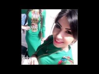 Turkmen gyzlary Sary sachly Ol betje başli gız 2016
