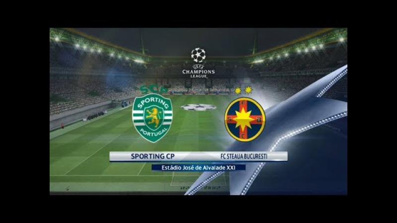 Sporting CP vs Steaua Bucuresti | UEFA Champions League | Estadio Jose de Alvalade XXI | PES 2017 HD