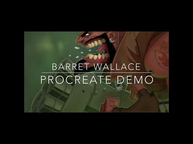 Barret Wallace - Procreate Demo