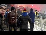 На матче Арсенал-ЦСКА.Пиро шоу от фанатов Красно-Синих.Начало.