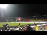 На матче Арсенал-ЦСКА. Пиро шоу от фанатов Красно-Желтых.