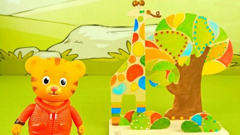 Тигрёнок Даниель и раскраска Джунгли - Развиваем детское творчество. Tiger Daniel