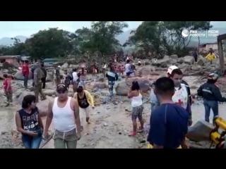 Кадры с места ЧП в Колумбии