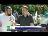 ВДВшник ударил коресспондента Канала НТВ в Прямом Эфире. Быдло или это нормально
