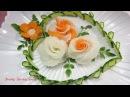 Art In Radish Carrot Roses Design Best Vegetable Flower Carving Garnish