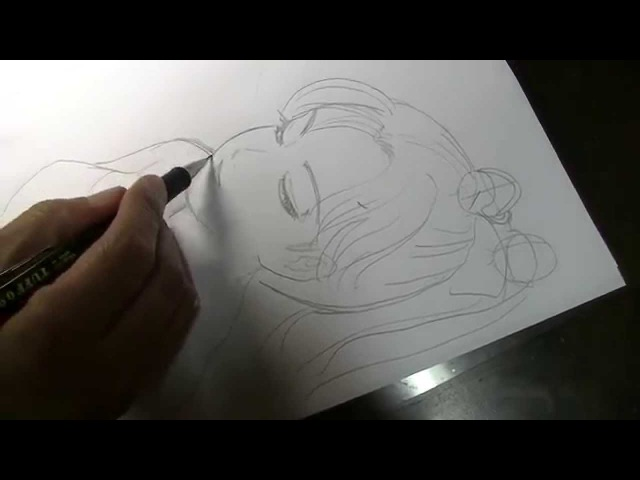 The SEIJI How to draw manga 001 Pencil, the face of a woman.