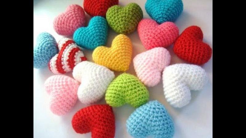 ♥Объёмное сердечко крючком♥сердце амигуруми♥Volumetric heart Valentine♥Объёмное сердце