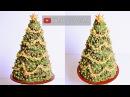 3D buttercream Christmas Tree Cake tutorial - Merry Christmas! Relaxing cake decorating