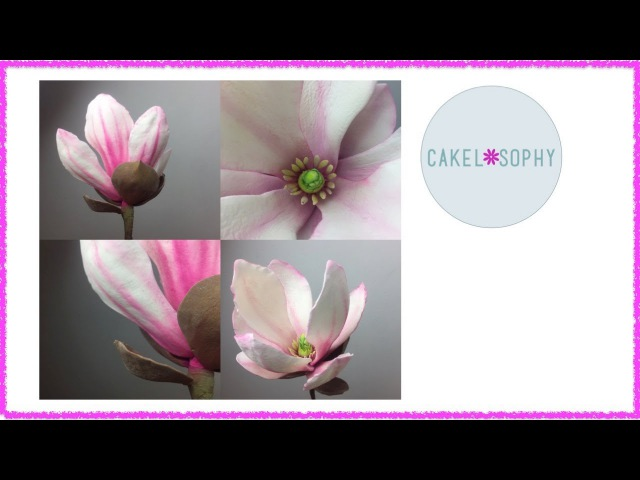 How to Make Gumpaste Magnolia Flower (Easy with a right Tutorial! )