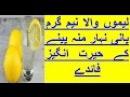 Health tips lemu wala pani ka fiyda, healty care water for everyone, urdu hindi