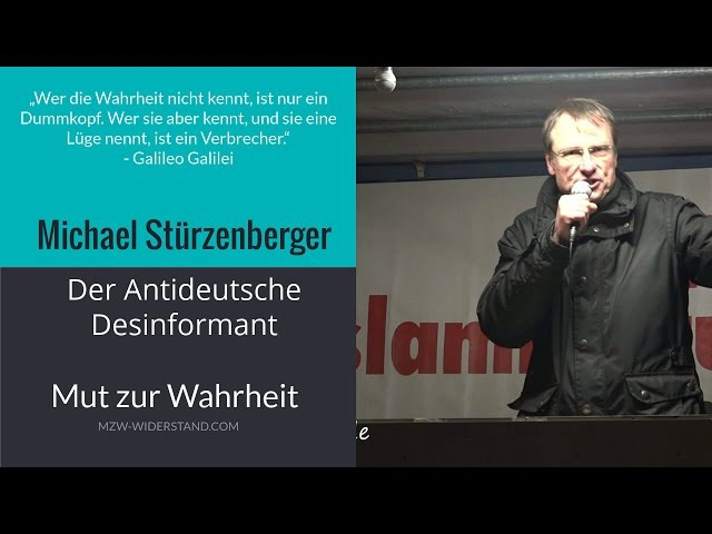 Michael Stürzenberger Der Antideutsche Desinformant