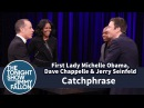 Catchphrase with First Lady Michelle Obama Dave Chappelle and Jerry Seinfeld