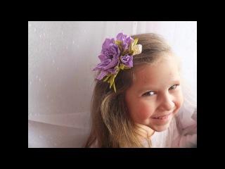 Мастер класс Заколка - цветок из фоамирана/Foam flower