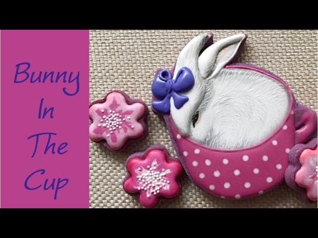 Bunny in the cup. Cookie gift. Easter cookie.🌸🐰🌸