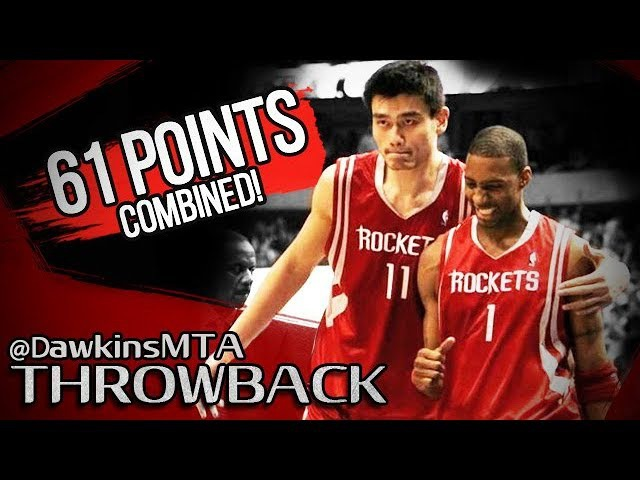 Tracy McGrady Yao Ming EPiC 61 Points Combined in 2005 WCR1 Game 2 at Mavs - CLUTCH T-Mac!