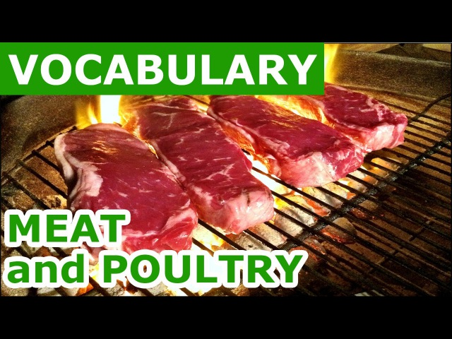 Learn english vocabulary with Pictures Lesson 9 Meat and poultry | Pics for learning Engl