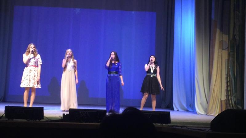 30 лет ЦДТ, отчетный концерт. Песня от выпускниц вокальной группы Нон-стоп- Геометрия любви