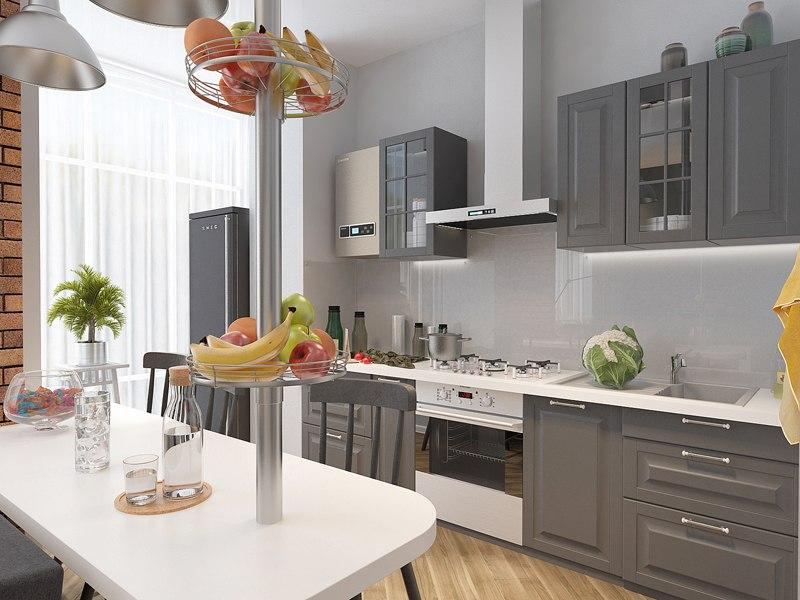 Проект квартиры-студии почти 26 м от СГ Третий Рим, застройщика жилого района Гармония, Михайловск.