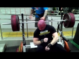 Bench press 170 kg x 2 reps
