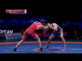 57кг GOLD: Giorgi EDISHERASHVILI (AZE) vs. Andrei DUKOV (ROU) Евро-2017