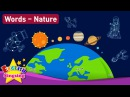 Kids vocabulary Theme Nature - Solar System, Geography, Zodiac Sign - Words Theme collection
