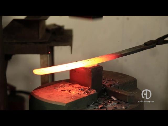 Клинок меча из дамасской стали Blade of damascus steel sword