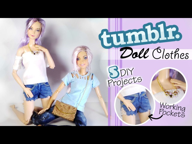 Tumblr Inspired Doll/Barbie Clothes (5 Projects) DIY Dolls/Dollhouse