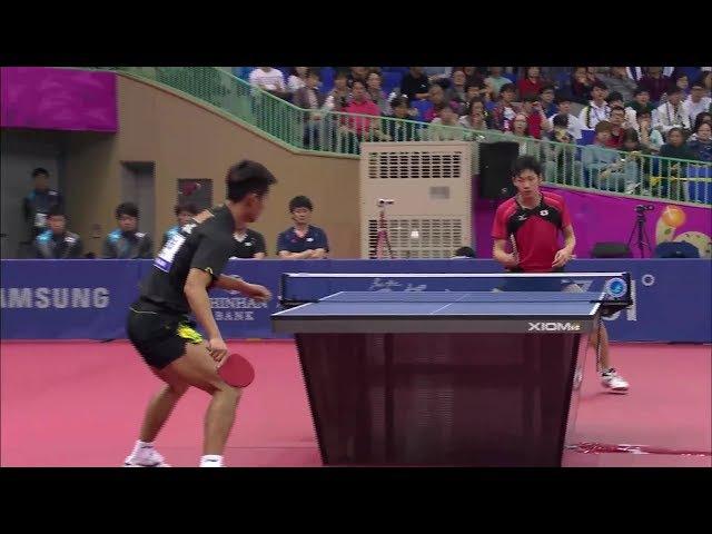 Zhang Jike vs Yuto Muramatsu (Asian Games)