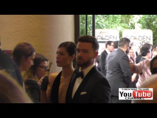 Justin Timberlake and Jessica Biel outside the Golden Globe Awards at Beverly Hilton Hotel in Beverl