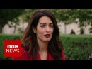 Amal Clooney demands justice for Yazidis BBC News