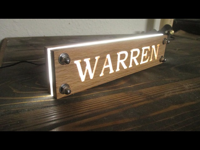 LED Night Light from Oak Pallet Wood