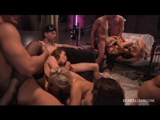 Cherry Kiss, Tiffany Doll, Shona River, Cassie Del Isla (An orgy for Cassie) [All Sex Hardcore Orgy Anal DP]