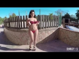 Charlotte Springer Charley S Hot girl video in red bikini