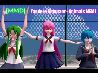[MMD] Yandere Simulator - Animals MEME |Models DL|