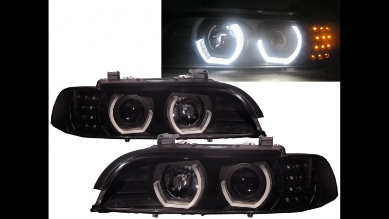 CrazyTheGod 5-Series E39 2001-2003 FACELIFTED 4D_5D 3D Halo Projector Headlight