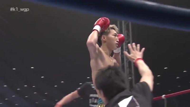 Jumping Switch Kick is KO of the year 2017: Rukiya vs. Hiroshi Mizumachi at K-1 World GP 2017 Japan