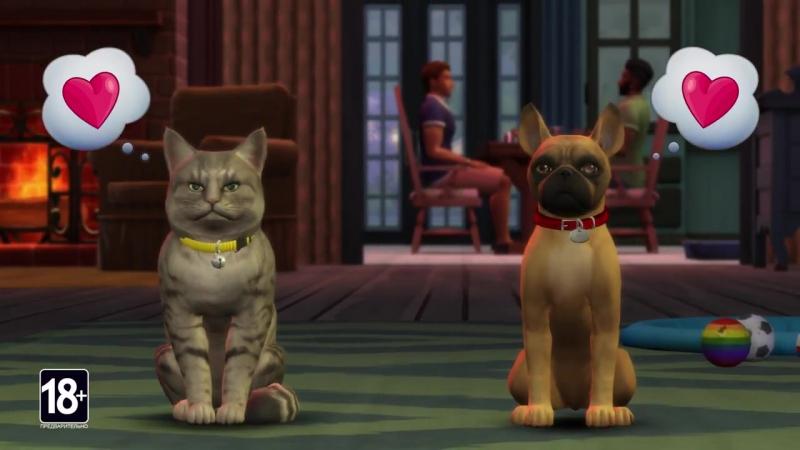Анонс обновления «Кошки и собаки» для игры The Sims 4!